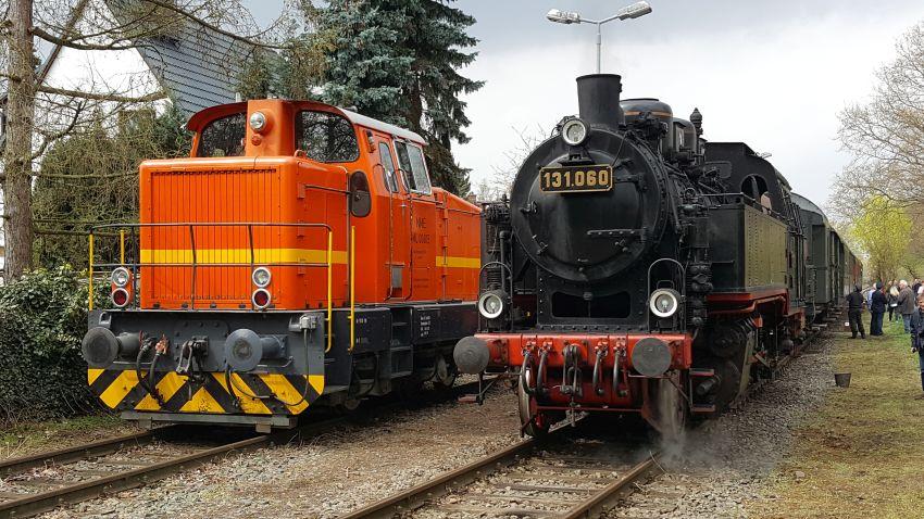 Unsere beiden Lokomotiven am Endpunkt der Strecke