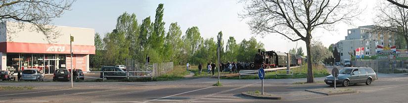 Berliner Eisenbahnfreunde e. V. - Dampflokfahrten und Dampfzugfahrten, Haltepunkt Wilhelmsruher Damm