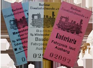 Fahrkarten der Berliner Eisenbahnfreunde e. V.