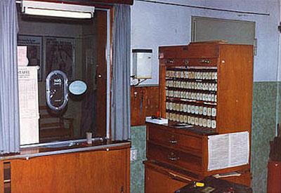 Fahrkartenschalter im Heidekrautbahn-Museum