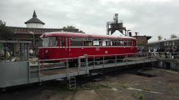 BEF VT95 auf der Drehscheibe in Berlin-Schöneweide