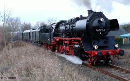 Gast-Dampflok 50 3610 mit Zug der Berliner Eisenbahnfreunde am 1.12.2018 auf der Heidekrautbahn