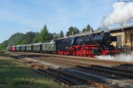 50 3610 mit Museumszug der Berliner Eisenbahnfreunde e.V. am 30.5.2019 in Basdorf