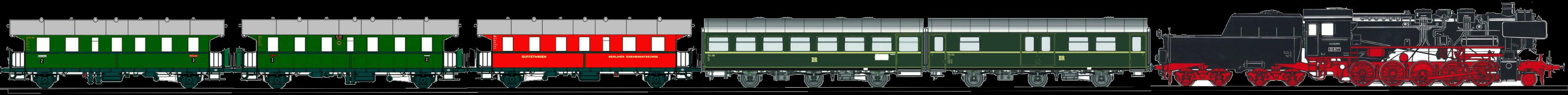 Zugsymbol BEF-Museumszug mit Dampflok