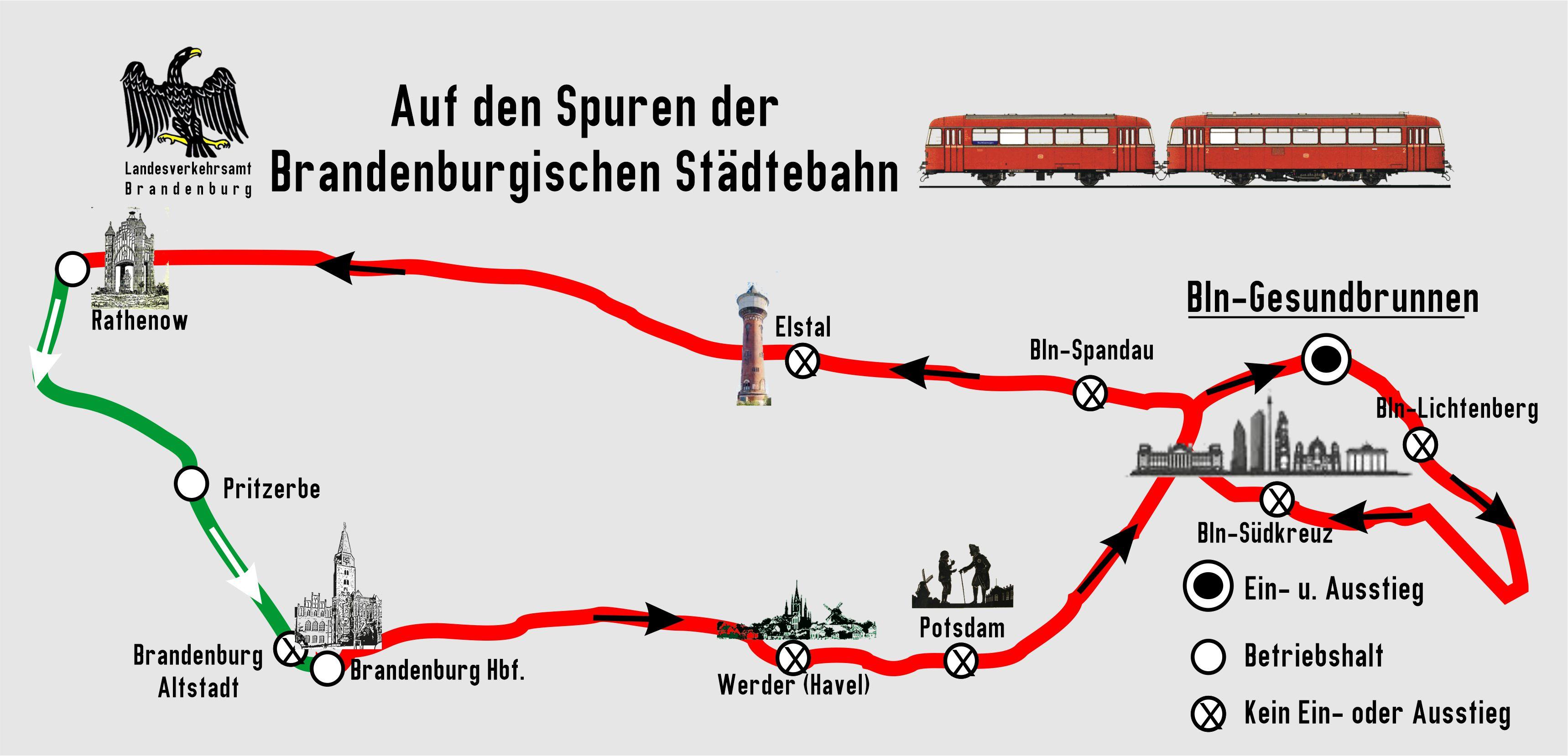 BEF  Streckenkarte Brandenburger Staedtebahn 2020