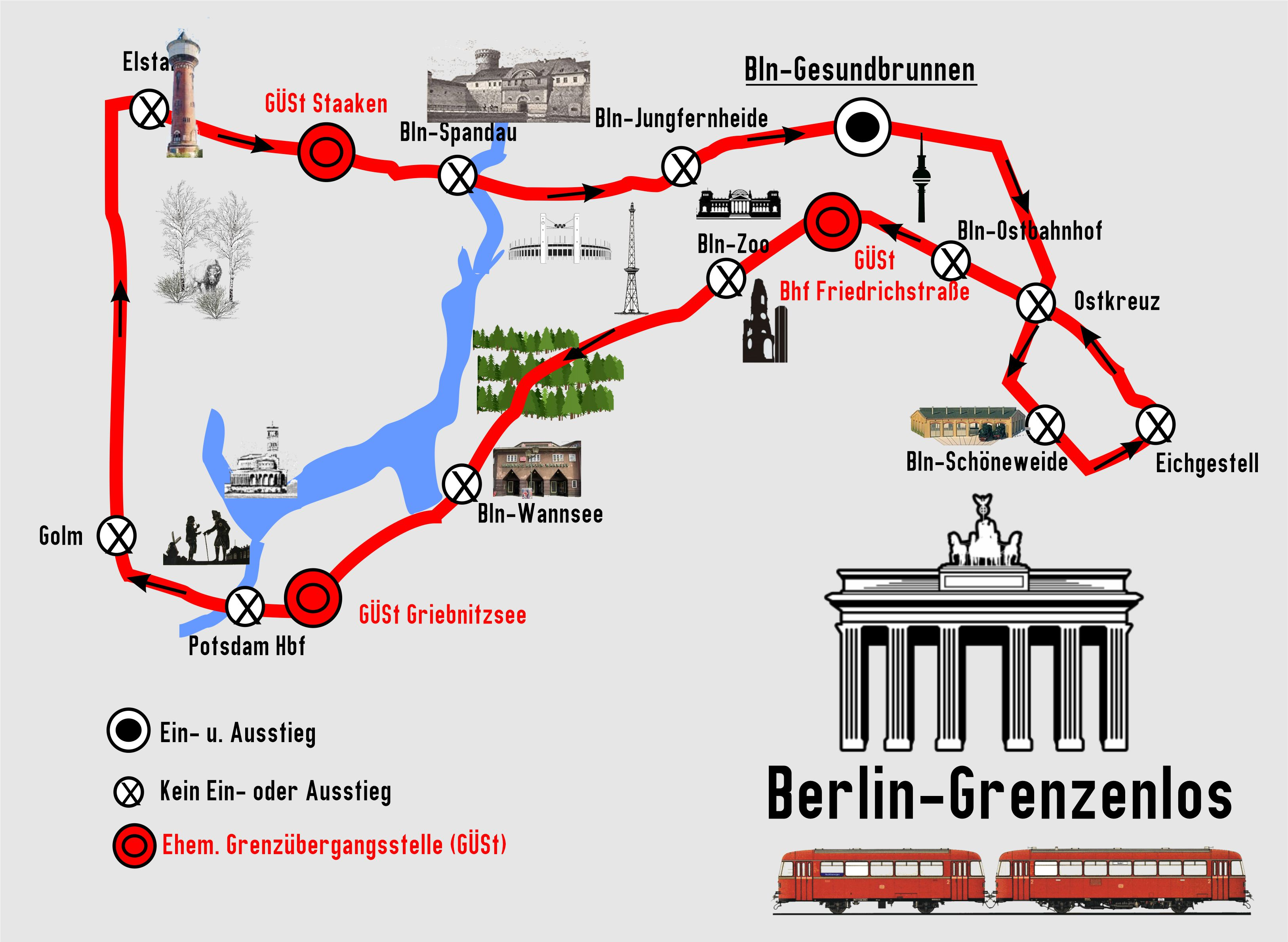 BEF  Streckenkarte Berlin grenzenlos 2020