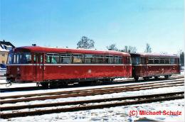 Schienenbus VT95 der Berliner Eisenbahnfreunde im Bf Potsdam Babelsberg