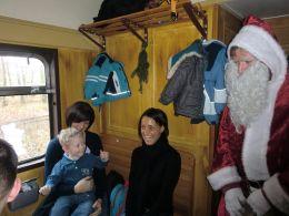Ein besonderer Fahrgast im Advent bei den Berliner Eisenbahnfreunden