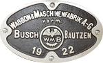 Hersteller-Schild Busch Bautzen