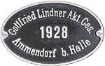 Hersteller-Schild Gottfried Lindner