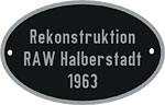 Hersteller-Schild RAW Halberstadt