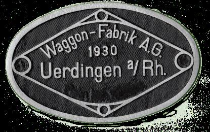 Fabrikschild Waggonfabrik Uerdingen 1930
