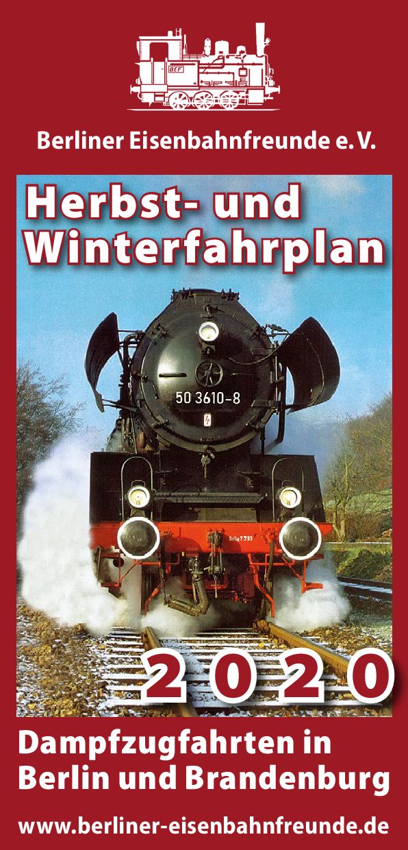BEF, Deckblatt Flyer Herbst/Winter 2020