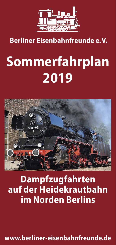 BEF-Fahrplanflyer Sommer 2019 Deckblatt