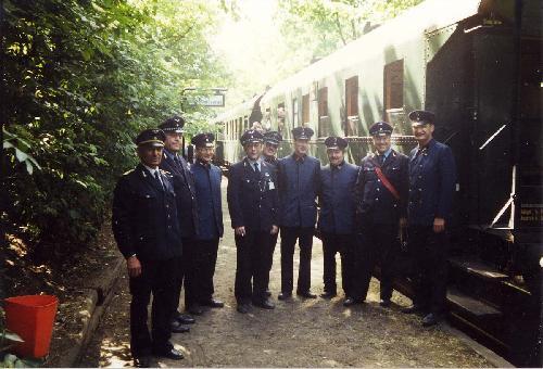 1990-Zugpersonale aus Ost- und West