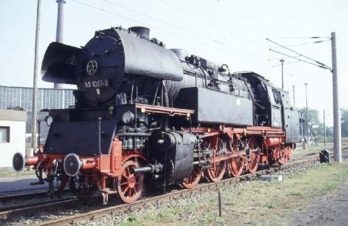 1991-65 1057-2 im Bw Cottbus
